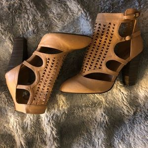 Qupid Cutout Ankle Booties